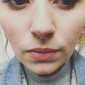 aros en la nariz mujeres