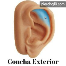 piercing concha exterior