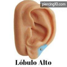 piercing lobulo alto